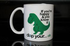 Coffee Mug  Green T Rex Coffee Mug  Funny by CreateItYourWay, $17.99