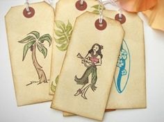 Items similar to Hawaii Wedding Wish Tags, Tropical Escort Cards Placecards, set of 6 on Etsy Card Box Wedding, Wedding Place Cards, Wedding Wishes, Wedding Stuff, Hawaiian Wedding Themes, Hawaiian Theme, Hawaiian Crafts, Tiki Wedding, Hawaii Wedding