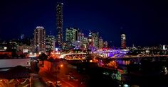Brisbane Australia just after sunset