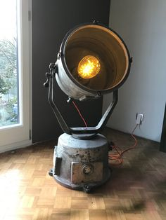 Boat lamp from Poland, 100cm high / 45cm diameter