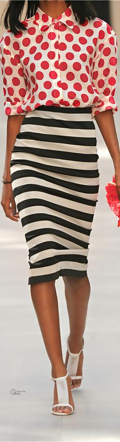 Burberry Prorsum | Striped satin-jersey pencil skirt