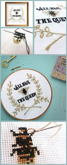 Such a pretty and funny cross stitch pattern, perfect for girl bosses