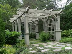 This is just amazing.  This site has tons of pergola plans that should be easy for a builder to follow.                                                                                                                                                                                 More