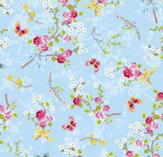 Tienda online papeles pintados. Chinese Rose Blauw