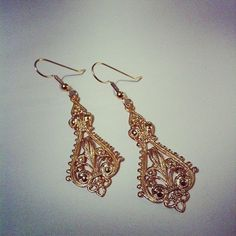 Deco filigree earrings