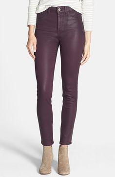 Free shipping and returns on Treasure&Bond Skinny Coated Jeans at Nordstrom.com. Curve-sculpting jeans crafted from stretchy denim are coated in a leather-look glaze for a glossy, after-hours look.