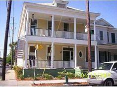 white house to the right 23 E. 40th Street Savannah home 1990- 2011