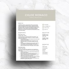 Teacher Resume Template For Word And Pages   And  Page Resume
