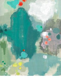 With Distanceby Belinda Marshall // Australian artist Belinda Marshall's works depict her vision of a perfect world - a calm,meditativespace. $275