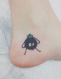20+ Studio Ghibli Tattoos Inspired By Miyazaki Films | Soot sprite From Spirited Away Tattoo