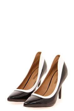Rebecca High Counter Monochrome Pointed Mid Heels