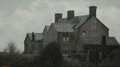 Cottages, Biddulph Moor (+ 2 others; 3 works) by Jack Simcock