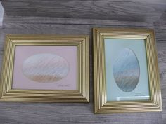 Two Vtg Coastal Beach Scene Watercolors by Patricia McFadden Dunes Sea Grass #Realism