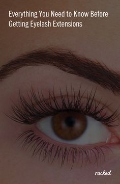 Beginner's Guide to Eyelash Extensions Beauty Makeup, Eye Makeup, Makeup Tips, Hair Makeup, Hair Beauty, Eyelash Sets, How To Clean Makeup Brushes, All Things Beauty, False Eyelashes