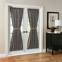 Features:  -Casual woven fabric.  -Fits patio/ French doors.  -Sold as one panel.  -Montego collection.  Product Type: -Curtain/Drape.  Pattern: -Solid.  Material: -Synthetic.  Cleaning Method: -Machi