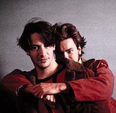 Keanu Reeves and River Phoenix