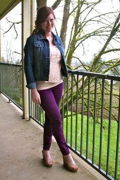 purple skinnies