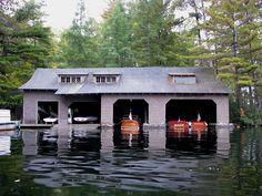 Boathouse at Camp Wild Air, Upper St Regis Lake, NY - Boathouse - Wikipedia, the free encyclopedia