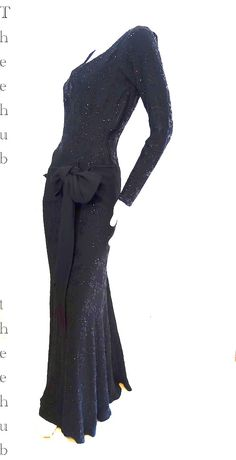 one of the rarest labelled 30s 40s Maggy Rouff 'glass' ultra red carpet dress by thee hub...now housed in Caness at L'Antiquare