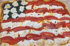 American Flag Veggie Pizza - fun & yummy!