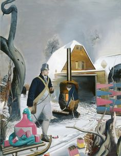 Neujahr  2005  Oil on canvas  106 1/3 x 82 2/3 inches (270 x 210 cm)