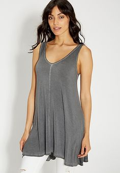 the 24/7 burnwash tunic tank | maurices S too big and tent-y, maybe XS?