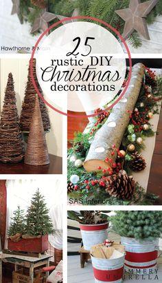 rustic-diy-christmas-decorations.png (750×1309)