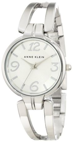 Anne Klein Women's 10/9813SVSV Silver-Tone Bangle Watch