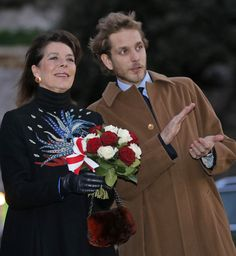 Princess Caroline and Andrea Csiraghi attended the opening of the Christmas Village in Monaco