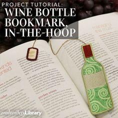 Wine Bottle Bookmark, In-the-Hoop (PR2049) from www.emblibrary.com