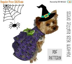 ON SALE Halloween Dog Dress SEWING Pattern  1628 by SofiandFriends