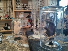 Halloween jewelry display... A hand under glass. Alta View Hospital gift shop.