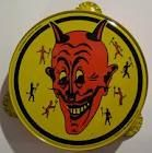 Devil . . . plate? Also, the most un-terrifying devil I have ever seen.