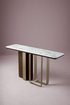 """A rigorous geometry defines the """"statement"""" base of the Saint-Germain console, which is both functional and decorative in equal measure. Designed by Massimiliano Raggi Sideboard Cabinet, Cabinet Furniture, Home Decor Furniture, Luxury Furniture, Furniture Design, Credenza, Table Inox, Saint Germain, Marble Furniture"""