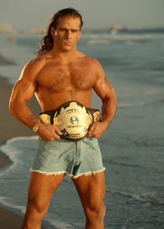 Either Fabio had a title run with the Winged Eagle that I forgot about, or did Shawn Michaels have a Heartbreak Kid romance novel series? Famous Wrestlers, Wwe Wrestlers, Wwe Shawn Michaels, Cheap Short Prom Dresses, Wrestling Wwe, Sport Man, Wwe Superstars, Rare Photos, Handsome