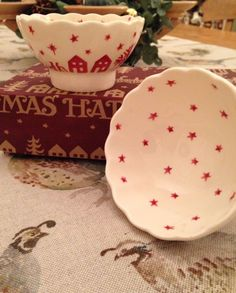Emma Bridgewater Christmas Town Small Fluted Bowls 2013