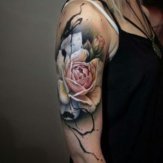 Tattoo Designs For Girls – 8 Great Tattoo Ideas For Girls 20 Vibrant Sleeve Tattoos for Women: a blooming rose Quarter Sleeve Tattoos, Tattoos For Women Half Sleeve, Best Sleeve Tattoos, Tattoo Sleeve Designs, Body Art Tattoos, Tattoo Sleeves, Cover Up Tattoos For Women, Tattoo Sleeve Cover Up, Arm Sleeve Tattoos For Women