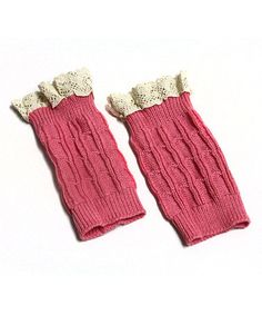 This Pink Ruffle Boot Cuffs by My Sunshine Shoppe is perfect! #zulilyfinds