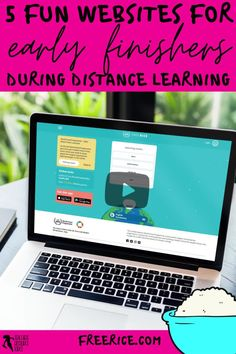 What do you do when your students have finished their distance learning tasks? Remote learning can be challenging as you try to ensure all your students are learning, progressing and occupied. It can be difficult to find suitable and fun virtual learning activities to issue as extension work for your early finishers. Keep reading to learn 5 creative ideas for your early finishers during a distance, hybrid or blended learning classroom! freerice.com Free Teaching Resources, School Resources, Learning Activities, Teacher Resources, Teaching Ideas, Teacher Blogs, New Teachers, School Direct, High School Classroom