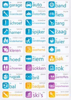 Dutch Language Learning Stickers