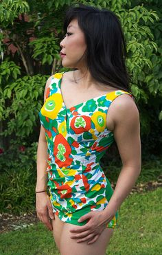 Vintage Bathing Suit 1960s Retro Pinup Mod by missruthstimebomb, $65.00
