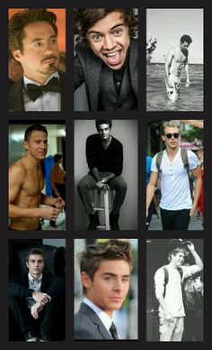 It has Robert Downey Jr, Harry Styles, Dylan O'Brien, Channing Tatum, Beau Michoff, Austin Butler, Dave Franco, Zac Efron, and Niall Horan! <3.