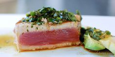 Pan-Seared Tuna w/ Avocado, Soy (sub coconut aminos), Ginger and Lime