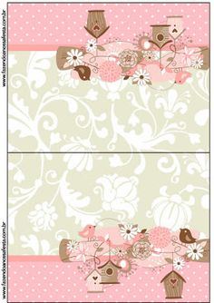 Birds and Cages: Free Printable Candy Bar Labels. Baby Scrapbook, Scrapbook Paper, Kirigami, Hobbies And Crafts, Diy And Crafts, Candy Bar Labels, Baby Journal, Bird Party, Elegant Centerpieces