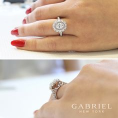 Elegant and sophisticated, browse the vast selection of oval cut engagement ring designs by Gabriel & Co. Your dream oval engagement ring is just a click away. Engagement Ring Buying Guide, Perfect Engagement Ring, Halo Diamond Engagement Ring, Different Engagement Rings, Bridesmaid Jewelry Sets, Antique Rings, Ring Designs, Fashion Rings, Bridal Jewelry