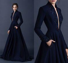 Resultado de imagen para vestidos elegante azul oscuro