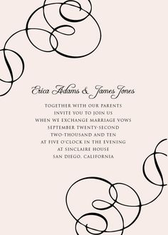Free Invitation Template #4 : Wedding Invitation Templates Wedding  Invitations 649812
