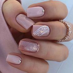 Square Nail Designs, Pink Nail Designs, Cool Nail Designs, Art Designs, Nails Design, Cute Pink Nails, Pink Nail Art, White Nails, Homecoming Nails