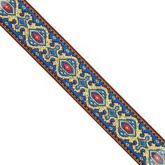 "15/16"" WIDE 24mm Classic Metallic Jacquard Ribbon Trim Tape: JL166 picclick.com"