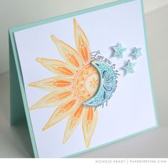 Sun & Moon Card by Nichole Heady for Papertrey Ink (May 2017)